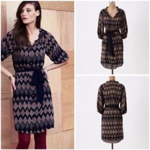 EDME & ESYLLTE Sz 8 Geometric Rugged Carats Dress